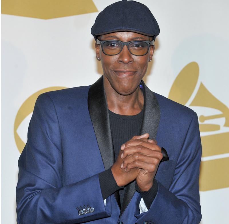 "FILE - In this Dec. 6, 2013 file photo, Arsenio Hall poses backstage at the Grammy Nominations Concert Live! at the Nokia Theatre L.A. Live, in Los Angeles. NBC News anchor Brian Williams made an on-air apology to Hall for leaving him out of a photo gallery of late-night hosts. In his newscast Wednesday, Feb. 19, 2014, Williams responded to the complaint that Hall had lodged the night before on ""The Arsenio Hall Show."" (Photo by Richard Shotwell/Invision/AP, file)"