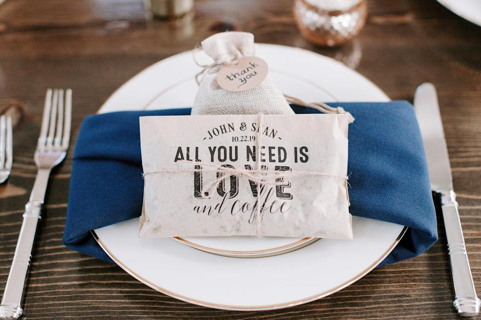 <p>Let your guests take home something special when you give their gifts a personalized spin. All you have to do is attach a nice handwritten note to each party favor, and people will appreciate all the hard work you put into their presents.</p>