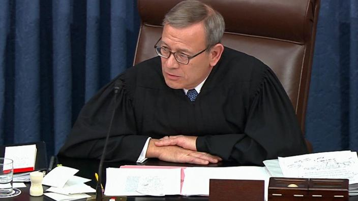 Impeachment trial of President Trump begins with a warning from Chief Justice Roberts