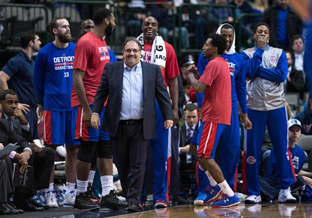 Stan Van Gundy and the Pistons are rolling. (Jerome Miron-USA TODAY Sports)