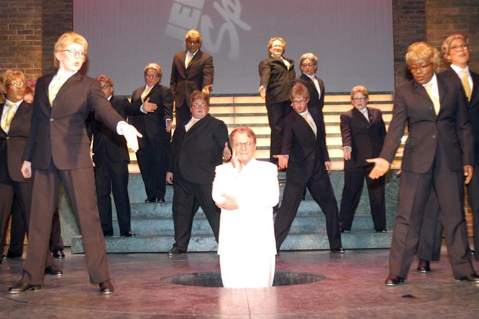 <p>Stewart Lee's 'Jerry Springer: The Opera' caused all manner of controversy when it was presented at the Edinburgh Festival in 2002. Unsurprisingly, when BBC2 screened it in 2005, 8,860 people complained to Ofcom, over its blasphemy, profanity and tap-dancing Ku Klux Klan members. Hundreds also gathered to protest outside BBC buildings.<br></p>