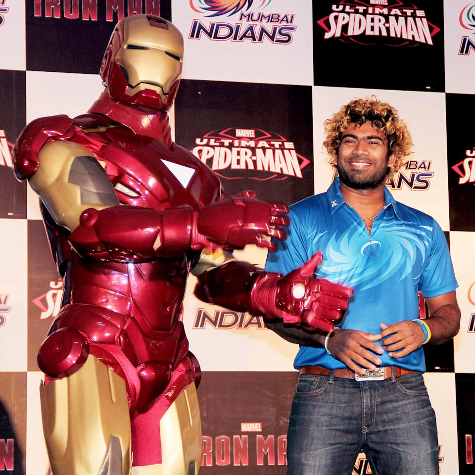 The Mumbai Indians took some time off to catch up with Superman and Iron Man.
