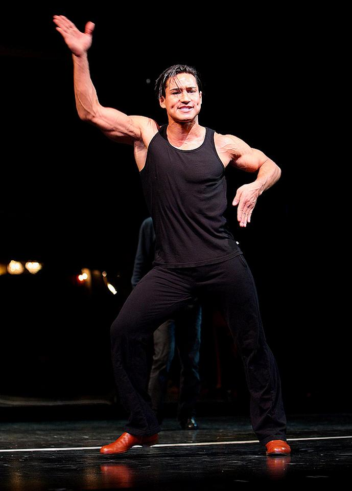 "The man best known as A.C. Slater, Mario Lopez preps for his Broadway debut in ""A Chorus Line."" We couldn't have said it better than Jessie Spano when she exclaimed, ""I'm so excited; I'm so scared!"" Theo Wargo/<a href=""http://www.wireimage.com"" target=""new"">WireImage.com</a> - April 11, 2008"