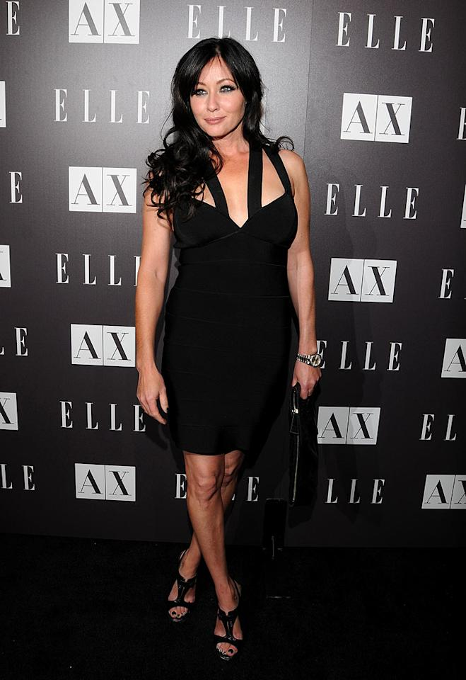 "Former ""Beverly Hills, 90210"" bad girl Shannen Doherty looked surprisingly chic in a LBD and T-strap pumps. Mark Sullivan/<a href=""http://www.wireimage.com"" target=""new"">WireImage.com</a> - May 25, 2010"
