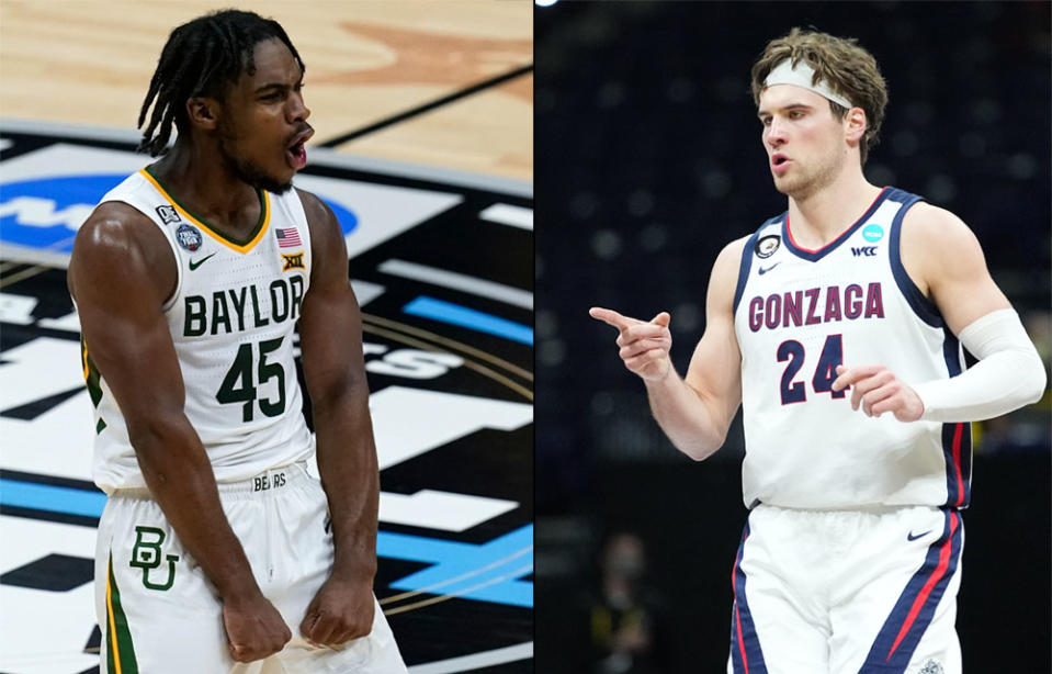 Baylor and Gonzaga will meet in the NCAA men's tournament national title game on Monday. (AP/Getty)