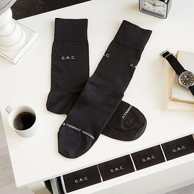 """<p>uncommongoods.com</p><p><a href=""""https://go.redirectingat.com?id=74968X1596630&url=https%3A%2F%2Fwww.uncommongoods.com%2Fproduct%2Fpersonalized-socks-set-of-5-pairs&sref=https%3A%2F%2Fwww.countryliving.com%2Fshopping%2Fg5104%2Fvalentines-day-gifts-for-him%2F"""" rel=""""nofollow noopener"""" target=""""_blank"""" data-ylk=""""slk:Shop Now"""" class=""""link rapid-noclick-resp"""">Shop Now</a></p><p>Never underestimate the power of a solid pair of socks. This personalized set can showcase a monogram or cute phrase.</p>"""