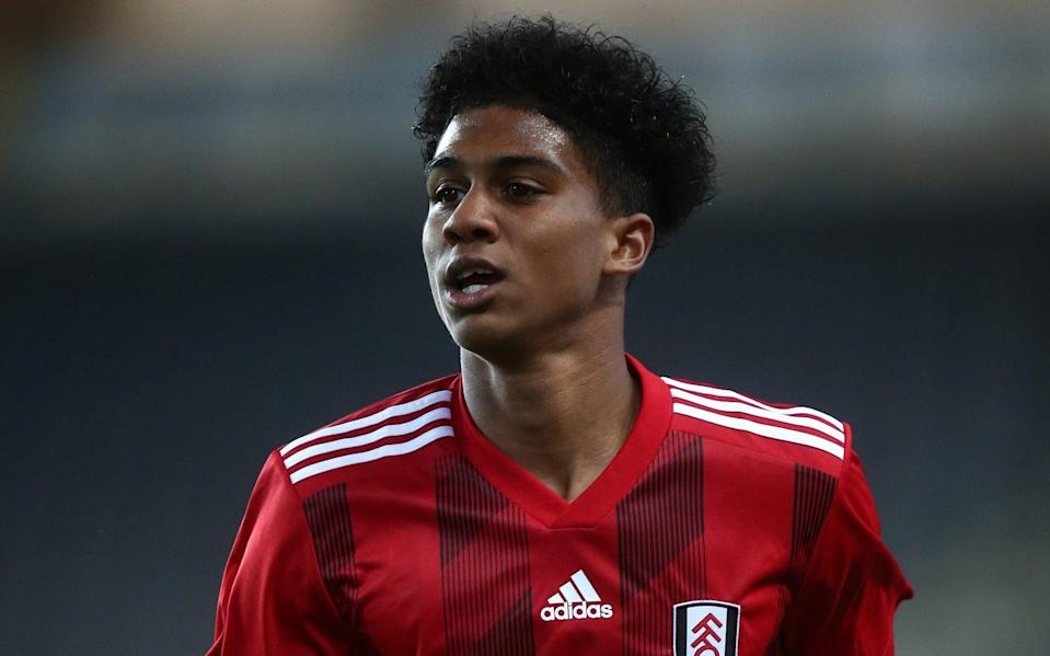 Cody Drameh of Fulham U21 in action during the Leasing.com Trophy match between Milton Keynes Dons and Fulham U21 at Stadium mk on October 01, 2019 in Milton Keynes - Getty Images/Pete Norton