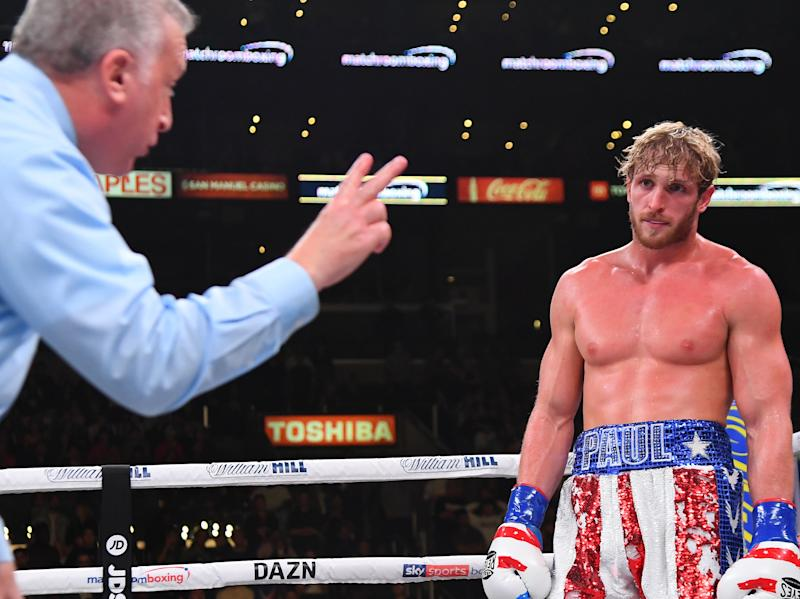 Logan Paul during his defeat by KSI (Getty Images)