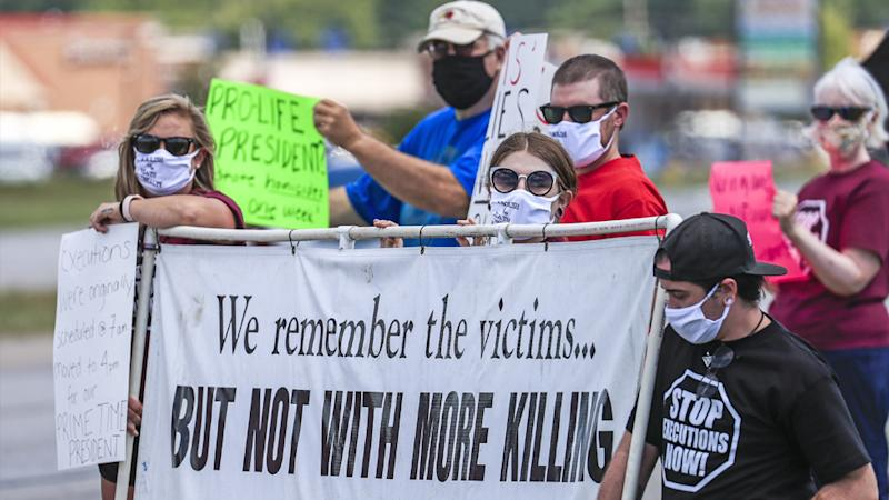 A protest against federal executions in the US