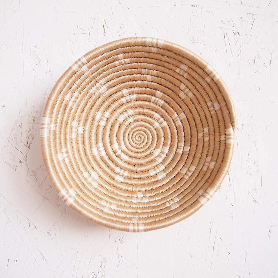 <p>The <span>Amsha Small African Basket</span> ($29) makes for a great catchall for your keys, face masks, and more!</p>