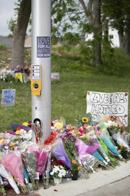 Flower bouquets and toys have been placed at the scene of the attack that killed four members of a Muslim family in London, Ontario