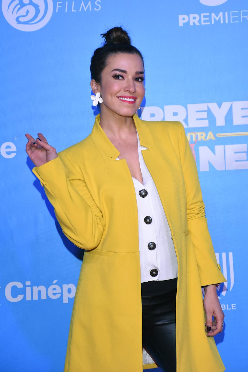MEXICO CITY, MEXICO - JANUARY 22: Laura G  poses for photos during a red carpet as part of the film 'Mirreyes vs GodÌnez' on January 22, 2019 in Mexico City, Mexico.  (Photo by Carlos Tischler/Getty Images)