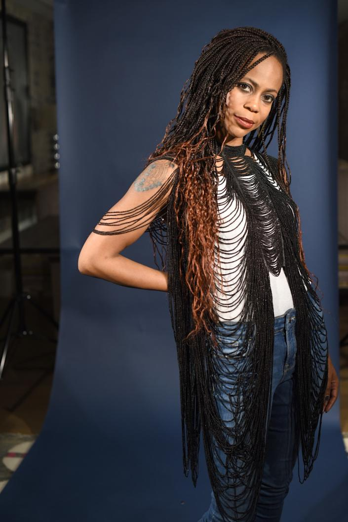 """Hannah Beachler, photographed in 2018, made history as the production designer of """"Black Panther."""" <span class=""""copyright"""">(Jennifer S. Altman / For The Times)</span>"""