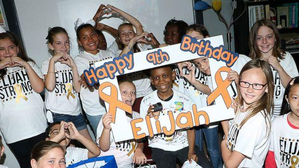 PHOTO: Elijah Lewis, a 9-year-old battling leukemia, was surprised by his 3rd-grade classmates at Victoria Walker Elementary school in Baytown, Texas, May 24 with an unexpected birthday celebration. (Carrie Pryor-Newman)