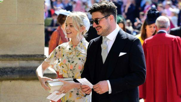 PHOTO: Marcus Mumford and Carey Mulligan arrive for the wedding ceremony of Prince Harry and Meghan Markle at St. George's Chapel in Windsor Castle in Windsor, May 19, 2018. (Ian West/AP)