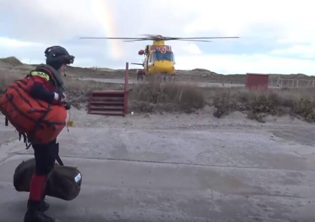 A Cormorant helicopter is called in to airlift a Parks Canada worker from Sable Island after the runway washed out in 2015. Now, the Air Force is considering bringing the search and rescue helicopters to the island more often with a fueling base.