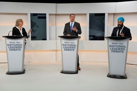 Party leaders begin a debate hosted by Macleans/Citytv in Toronto