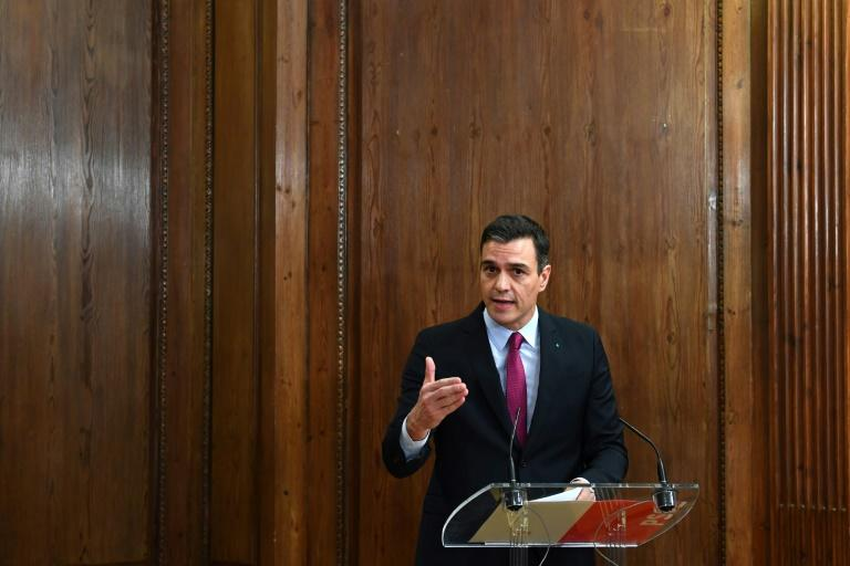 Spain's Socialist leader Pedro Sanchez is seeking backing from a Catalan separatist party in parliament to secure another term as prime minister