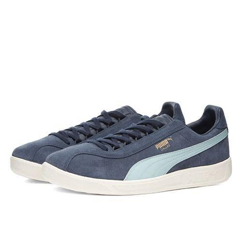 "<p><a class=""link rapid-noclick-resp"" href=""https://www.endclothing.com/gb/puma-dallas-madrid-374568-01.html"" rel=""nofollow noopener"" target=""_blank"" data-ylk=""slk:SHOP"">SHOP</a></p><p>Blue suede shoes from the deep red South, the Puma Dallas was one of the most sought after trainers of the 1980s. Twenty years later, it is, once again, one of the most sought after trainers (or ours, at least). </p><p>Dallas Madrid Sneakers, £79, <a href=""https://www.endclothing.com/gb/puma-dallas-madrid-374568-01.html"" rel=""nofollow noopener"" target=""_blank"" data-ylk=""slk:endclothing.com"" class=""link rapid-noclick-resp"">endclothing.com</a></p>"