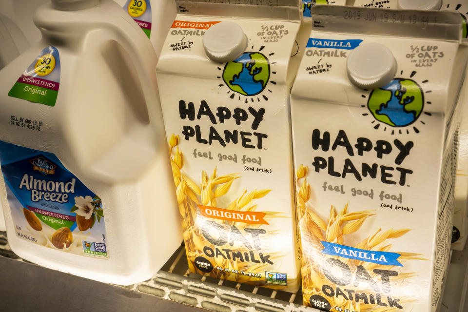 Sales of oat milk soared 71% in 2018. Photo: Richard B. Levine/SIPA USA/PA Images