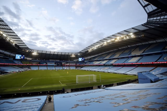 Klopp wants Liverpool's clash against Manchester City to take place at the Etihad Stadium (Martin Rickett/NMC Pool/PA)