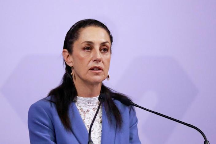 FILE PHOTO: Mexico City Mayor Claudia Sheinbaum holds a news conference about the murder of seven-year-old Fatima Cecilia Aldrighett, in Mexico City