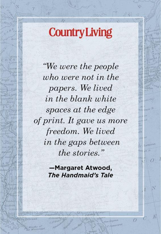 """<p>""""We were the people who were not in the papers. We lived in the blank white spaces at the edge of print. It gave us more freedom. We lived in the gaps between the stories.""""</p>"""