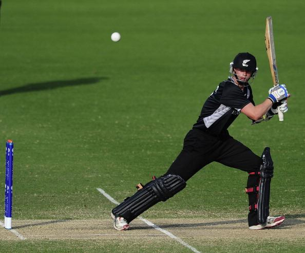 TOWNSVILLE, AUSTRALIA - AUGUST 23:  Cameron Fletcher of New Zealand bats  during the ICC U19 Cricket World Cup 2012 Semi Final match between India and New Zealand at Tony Ireland Stadium on August 23, 2012 in Townsville, Australia.  (Photo by Ian Hitchcock/Getty Images)