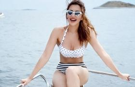 Shama Sikander sets Instagram on fire in a hot monochrome bikini