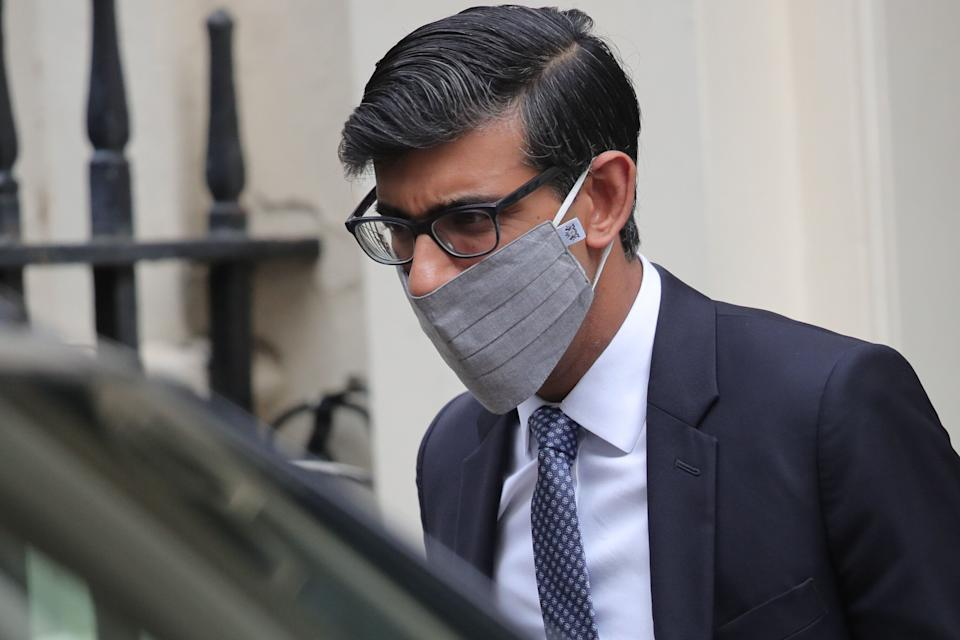 Chancellor of the Exchequer Rishi Sunak leaves Downing Street London. (Photo: PA)