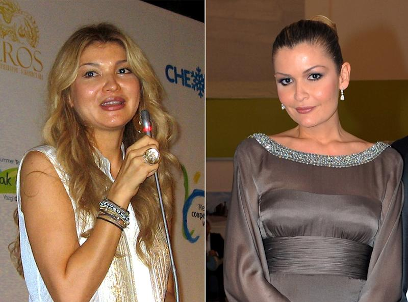 Gulnara Karimova (L) has reportedly been under house arrest since 2014 after publicly feuding with her mother and her younger sister Lola (R)