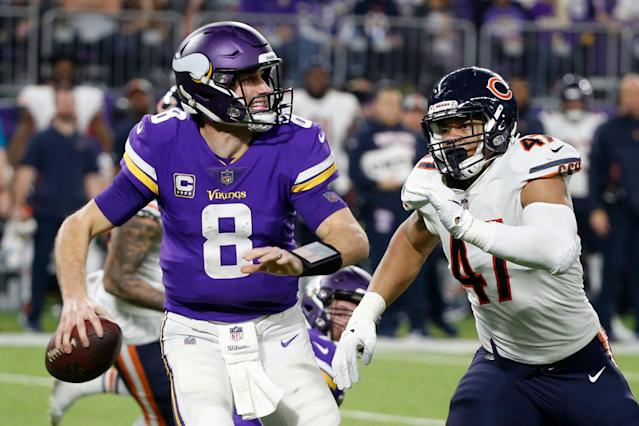 Kirk Cousins' comfortability in the pocket remains a priority for the Vikings. (AP)