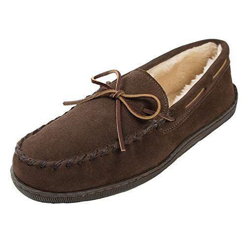 """<p><strong>Minnetonka</strong></p><p>amazon.com</p><p><strong>$49.95</strong></p><p><a href=""""https://www.amazon.com/dp/B00I0HQYF0?tag=syn-yahoo-20&ascsubtag=%5Bartid%7C10050.g.24995746%5Bsrc%7Cyahoo-us"""" rel=""""nofollow noopener"""" target=""""_blank"""" data-ylk=""""slk:Shop Now"""" class=""""link rapid-noclick-resp"""">Shop Now</a></p><p>2,000+ great reviews on Amazon can't be wrong. This ultra-fluffy shoe with a traditional moccasin design is just perfect for any grandpa—whether for weekend or all-the-time wear!</p>"""
