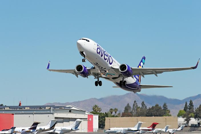 Avelo Airlines entered service on April 28 on its first flight from Hollywood Burbank Airport to Santa Rosa, California.