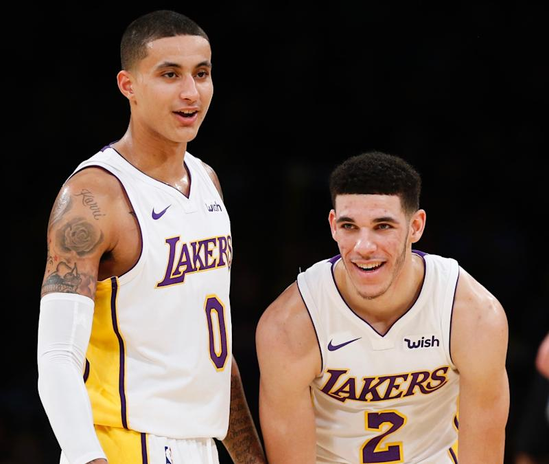 brand new 78a86 79fe5 Lakers warn Lonzo Ball, Kyle Kuzma to tone down online beef ...