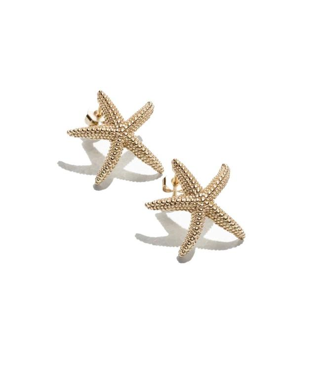 "<p>& Other Stories fish stud earrings, $25,<a href=""http://www.stories.com/us/Jewellery/All_jewellery/Star_Fish_Stud_Earrings/590767-0482364001.2"" rel=""nofollow noopener"" target=""_blank"" data-ylk=""slk:stories.com"" class=""link rapid-noclick-resp""> stories.com</a> </p>"