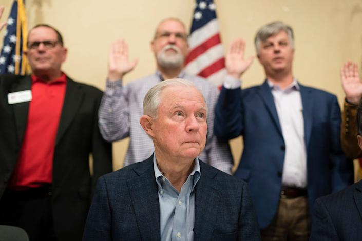 Former Attorney General Jeff Sessions was the first senator to back President Donald Trump in 2016. He's likely to lose the GOP primary in his reelection bid because Trump endorsed his opponent. (Photo: The Washington Post via Getty Images)