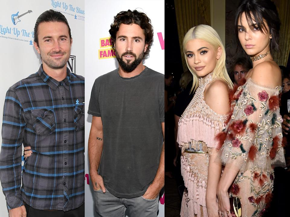 brendan, brody, kendall, and kylie jenner
