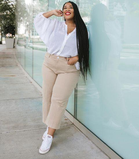 "<p>The NYC-based blogger has countless standout fashion moments on her feed, and she's also the founder of <a href=""https://www.instagram.com/golden.confidence/"" rel=""nofollow noopener"" target=""_blank"" data-ylk=""slk:@golden.confidence"" class=""link rapid-noclick-resp"">@golden.confidence</a> where she highlights others and embraces body positivity. </p><p><a href=""https://www.instagram.com/p/CGYTjDYhgZC/"" rel=""nofollow noopener"" target=""_blank"" data-ylk=""slk:See the original post on Instagram"" class=""link rapid-noclick-resp"">See the original post on Instagram</a></p>"