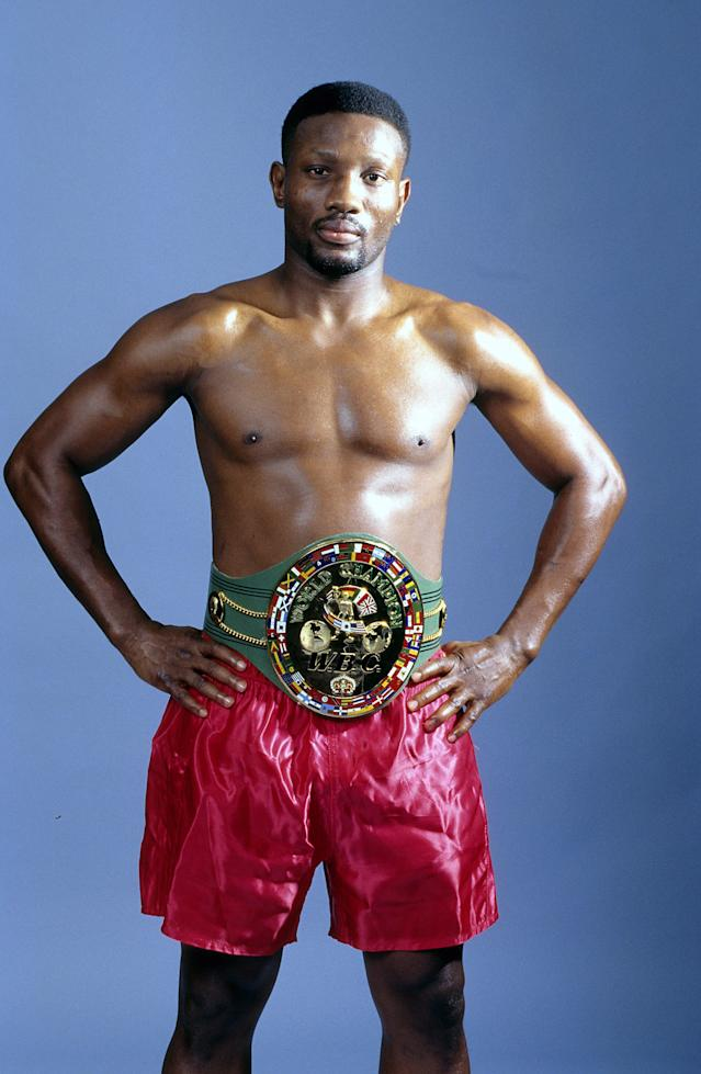 Pernell Whitaker poses during a portrait session in 1997 in New York. (Photo by: The Ring Magazine via Getty Images)