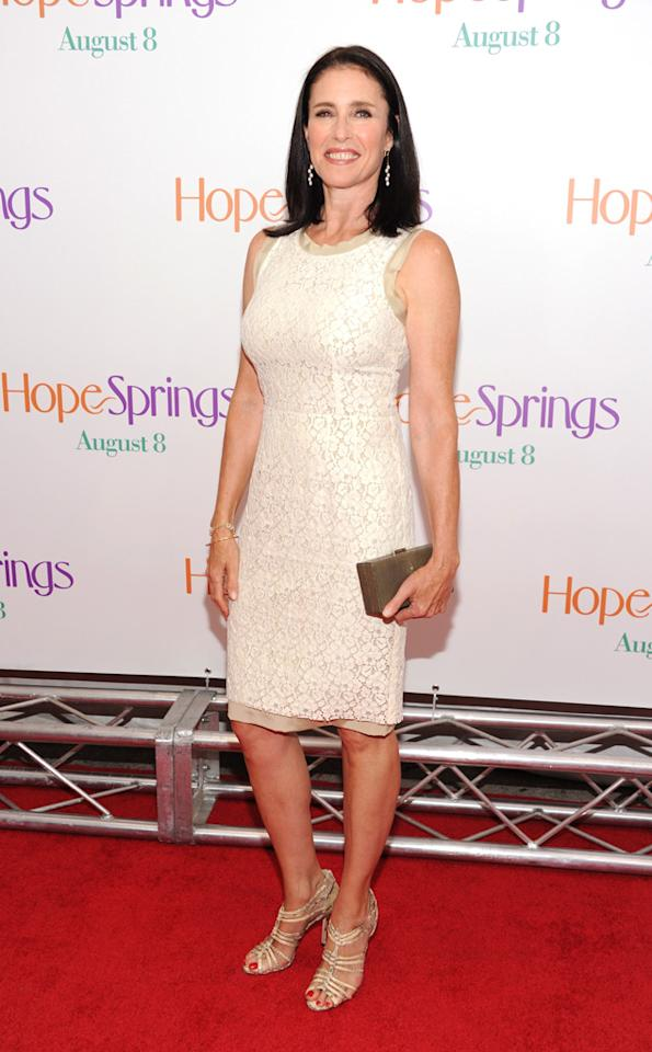 "Mimi Rogers at the New York City premiere of ""Hope Springs"" on August 6, 2012."