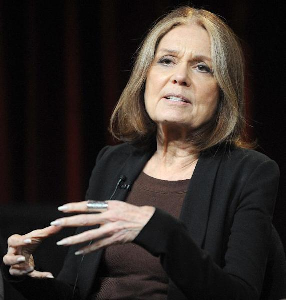 """FILE - In this Jan. 15, 2011 photo, Gloria Steinem attends the PBS Winter TCA Tour at the Langham Huntington Hotel in Pasadena, Calif. """"Makers: Women Who Make America,"""" a three-hour PBS documentary about the fight for women's equality, airs Tuesday and features prominent activists including Gloria Steinem and Marlo Thomas. (Photo by Richard Shotwell/Invision/AP, File)"""