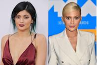 <p>Kylie's first big beauty moment was when she famously dyed her hair blue. Even though the cosmetics businesswoman still routinely changes up her hair color (thanks mostly to wigs), these days she also regularly opts for more minimalistic makeup.</p>