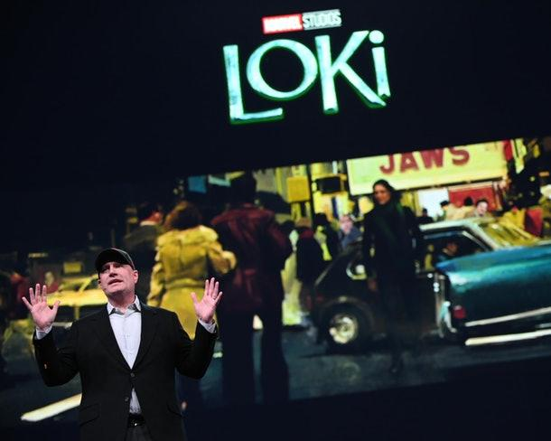 Kevin Feige talks Loki to investors (Credit: Disney)
