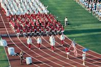 <p>If one thing is clear about the designers behind the Team USA Olympics opening ceremony uniforms, it's that they love a patriotic blazer. In 1972, female athletes got to pair their red blazers with a chic white tennis skirt, while male athletes wore white blazers with red pants. </p>