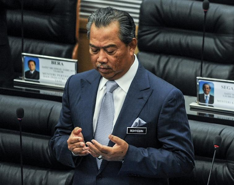 Deputy Prime Minister Muhyiddin Yassin, pictured on July 23, 2014, has been critical of Malaysian Prime Minister Najib Razak's handling of the scandal involving state-owned development company 1Malaysia Development Berhad (AFP Photo/Mohd Rasfan)