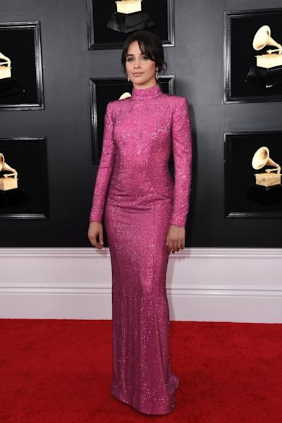 US-Cuban singer-songwriter Camila Cabello arrives for the 61st Annual Grammy Awards on February 10, 2019, in Los Angeles