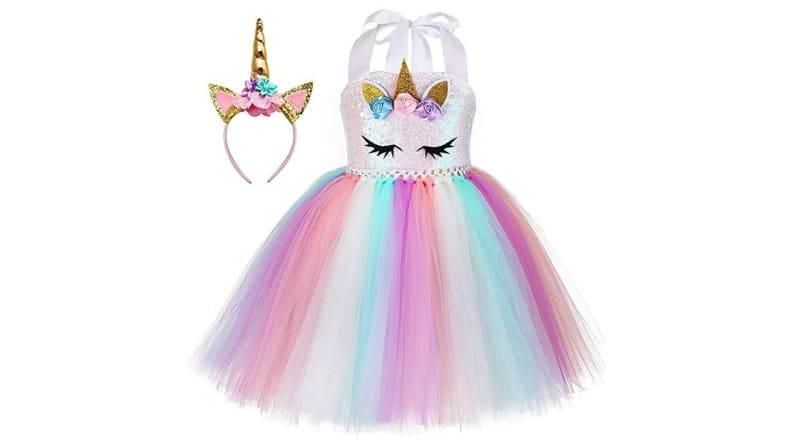 Your child will prance down the street in this Unicorn Princess costume.