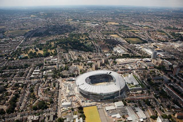 Months away: Tottenham won't be back in north London for a while