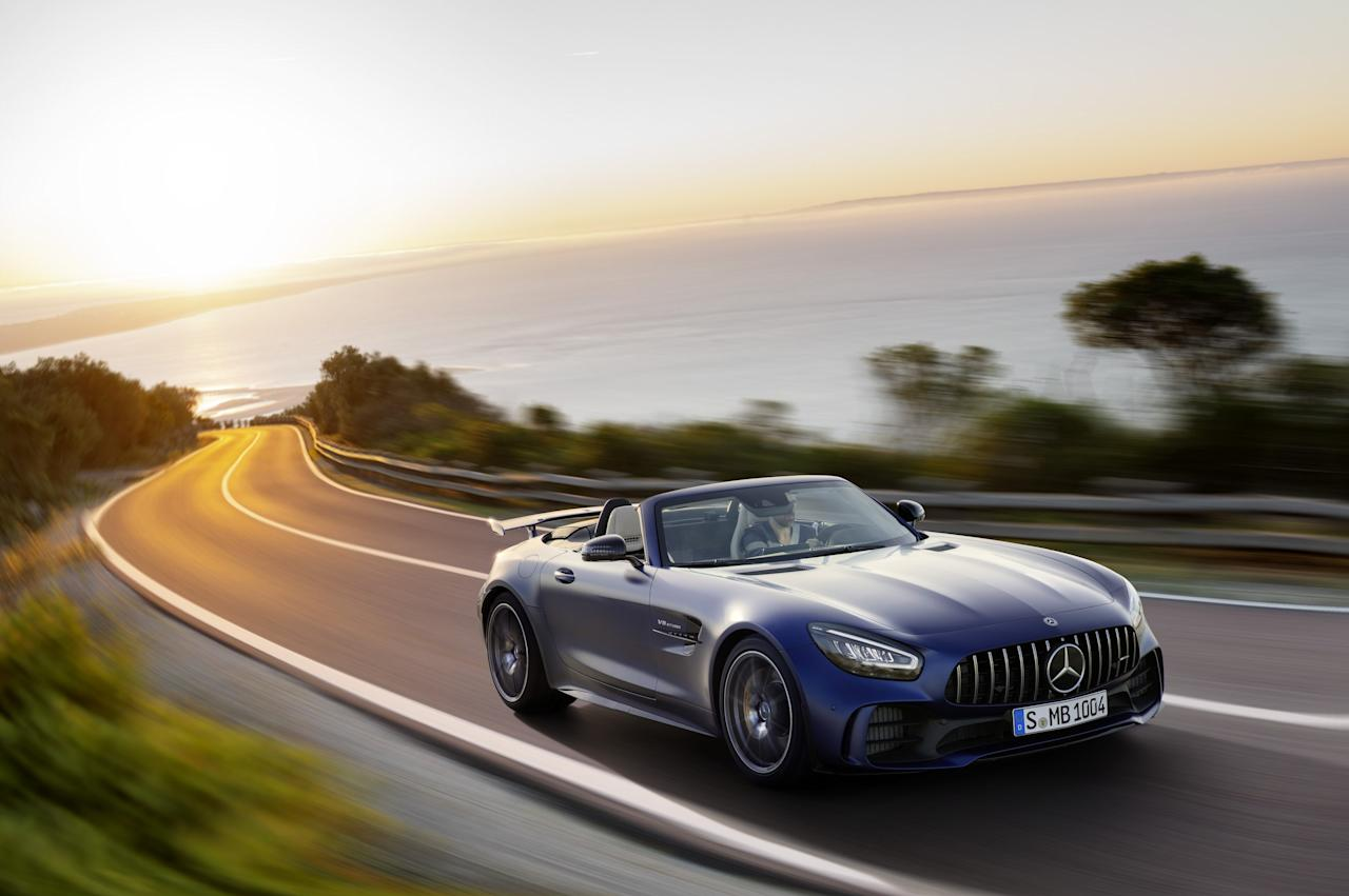 This limited-edition drop-top is the ultimate iteration of Mercedes-AMG's speedy two-seater. As such, it is decked out with all manner of technical features intended to help drivers quicken their pace on the racetrack—like special suspension, steering, and aerodynamic bits—but it is also cosmetically unique, with a stealthy blacked-out trim. With 577 hp from its twin-turbocharged V8, it will hustle from zero to 60 in 3.5 seconds and nearly hit 200 m.p.h. <em>$185,000 estimate</em>